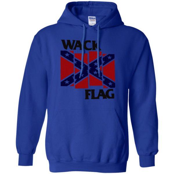 rebel flag hoodie - royal blue