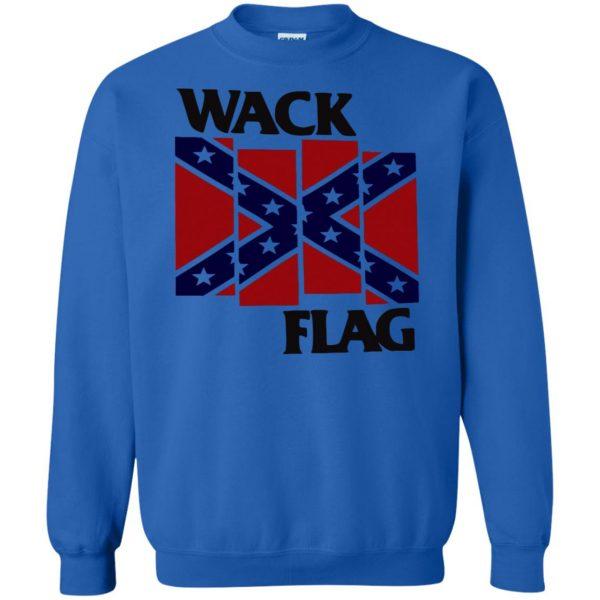 rebel flag sweatshirt - royal blue