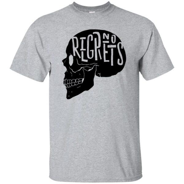 no regrets t shirt - sport grey
