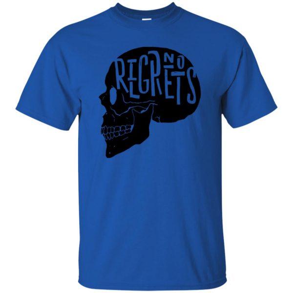 no regrets t shirt - royal blue