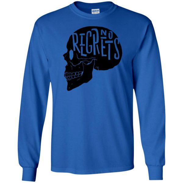 no regrets long sleeve - royal blue
