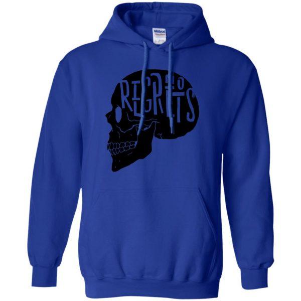 no regrets hoodie - royal blue