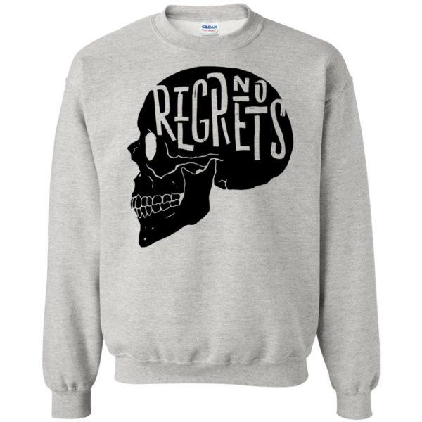 no regrets sweatshirt - ash