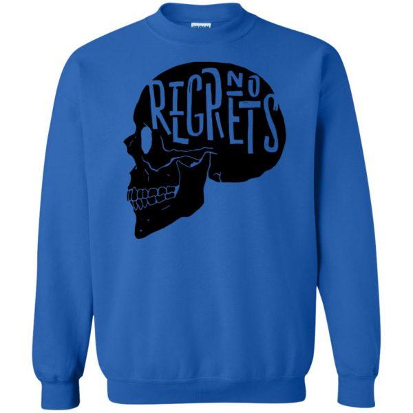 no regrets sweatshirt - royal blue