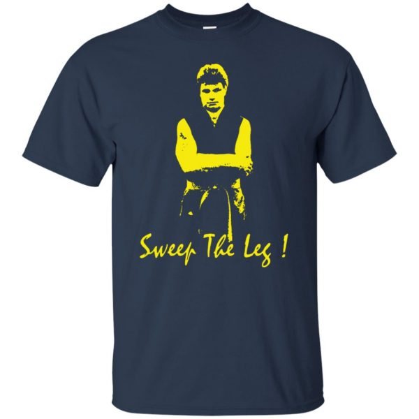 sweep the leg t shirt - navy blue