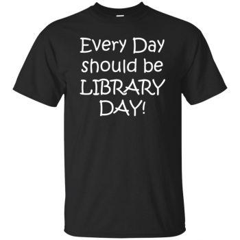 librarian t shirt - black