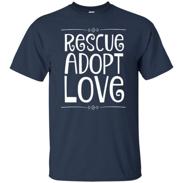 animal rescue t shirt - navy blue