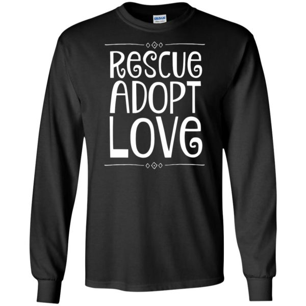 animal rescue long sleeve - black