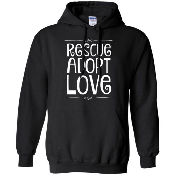 animal rescue hoodie - black