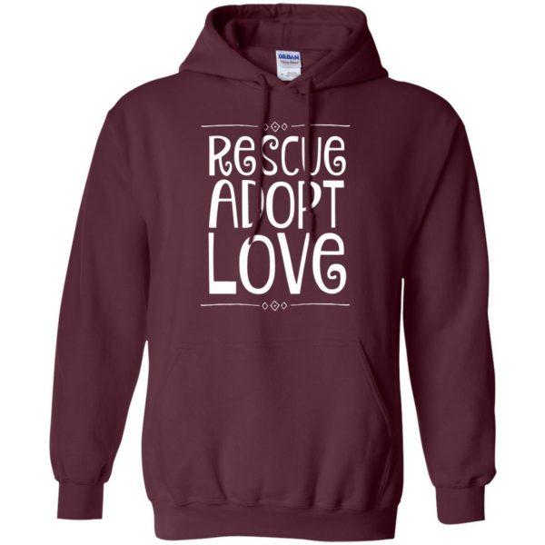 animal rescue hoodie - maroon