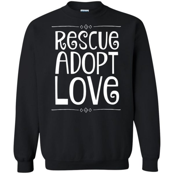 animal rescue sweatshirt - black