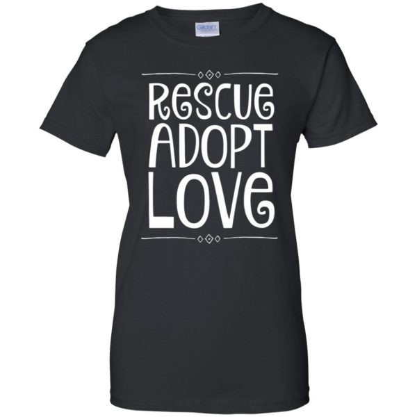 animal rescue womens t shirt - lady t shirt - black