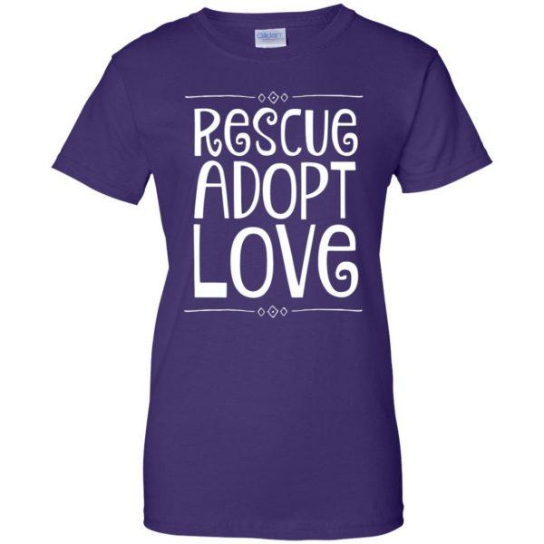 animal rescue womens t shirt - lady t shirt - purple