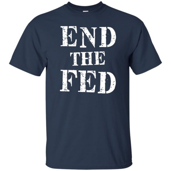 end the fed t shirt - navy blue