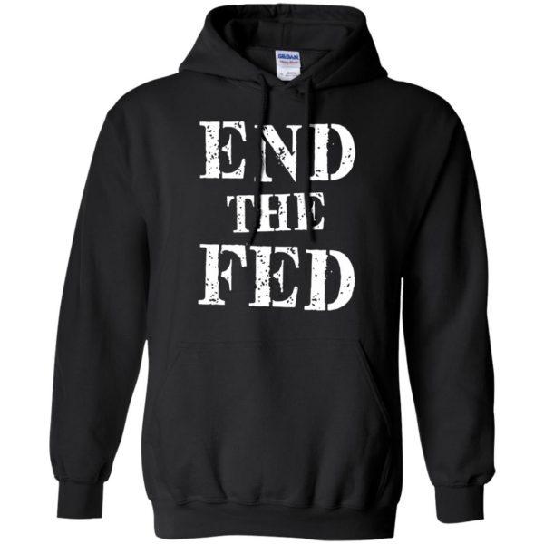 end the fed hoodie - black