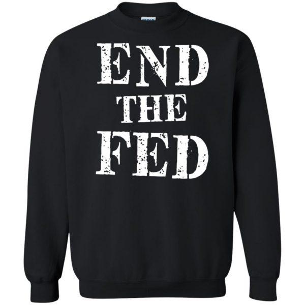 end the fed sweatshirt - black