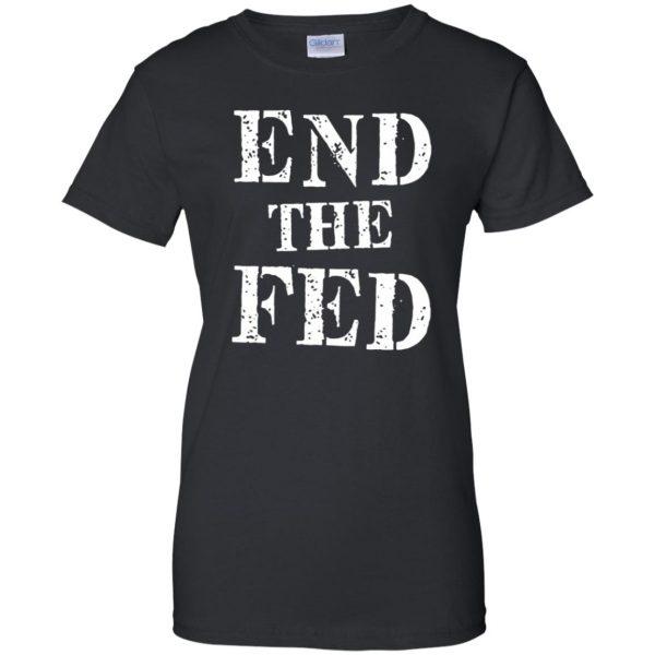 end the fed womens t shirt - lady t shirt - black