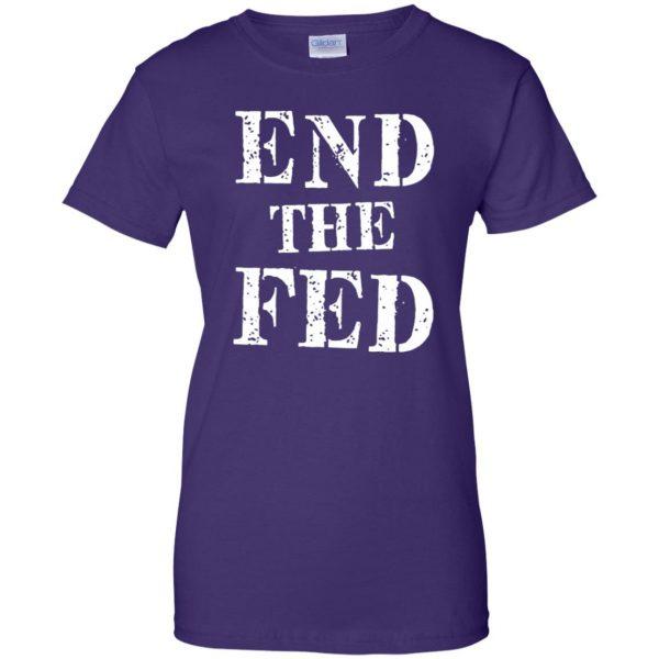 end the fed womens t shirt - lady t shirt - purple