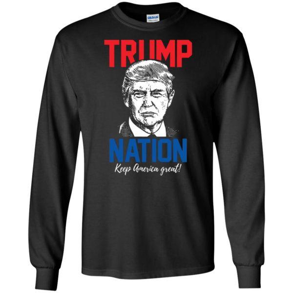 trump nation long sleeve - black