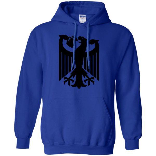 german eagle hoodie - royal blue