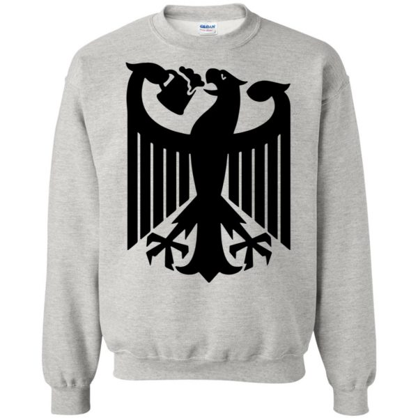 german eagle sweatshirt - ash