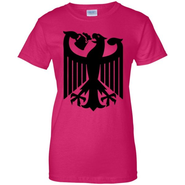 german eagle womens t shirt - lady t shirt - pink heliconia