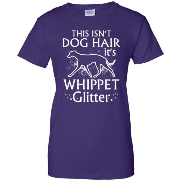 whippet womens t shirt - lady t shirt - purple