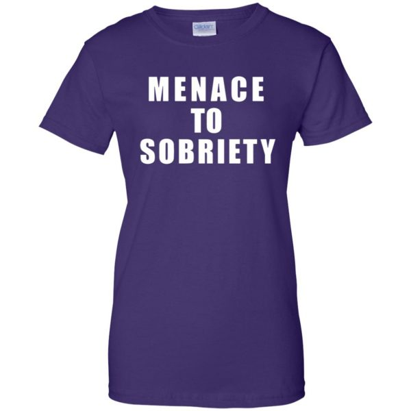 menace to sobriety womens t shirt - lady t shirt - purple