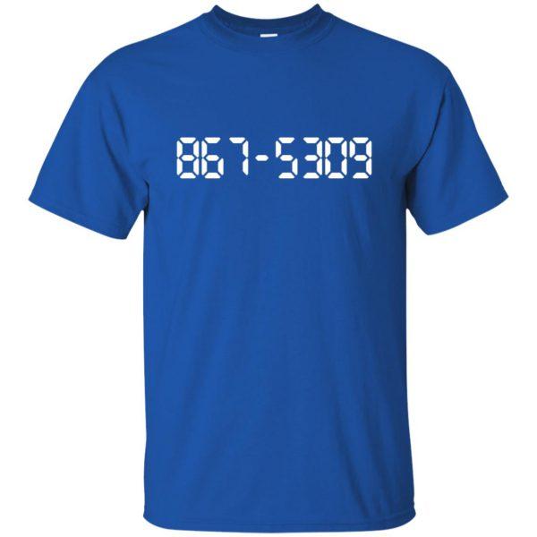 8675309 t shirt - royal blue
