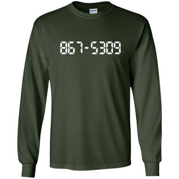 8675309 long sleeve - forest green