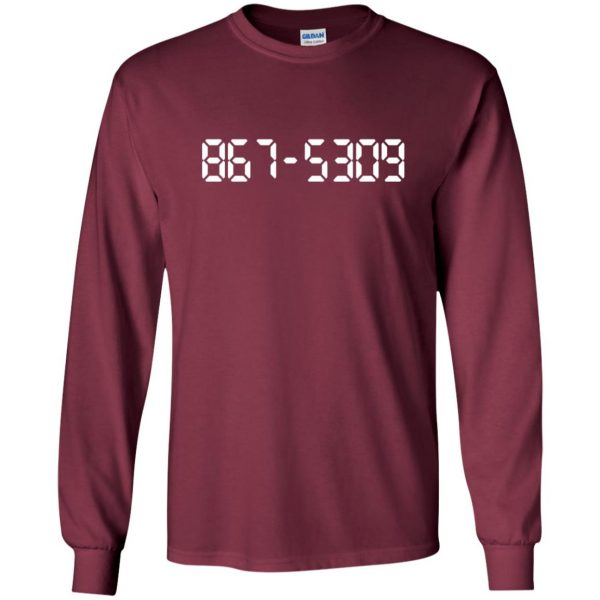 8675309 long sleeve - maroon