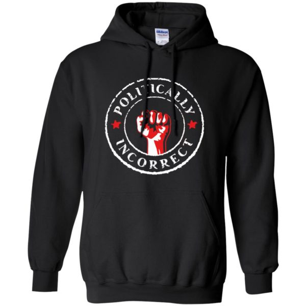 politically correct hoodie - black