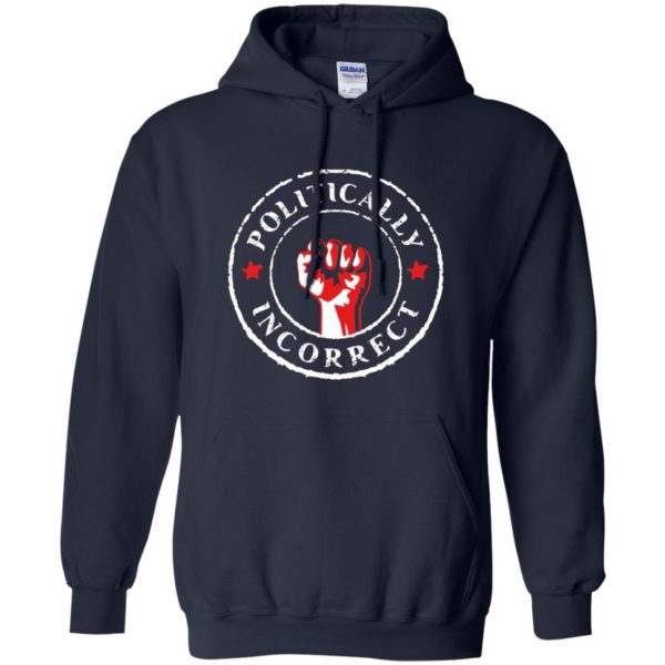 politically correct hoodie - navy blue