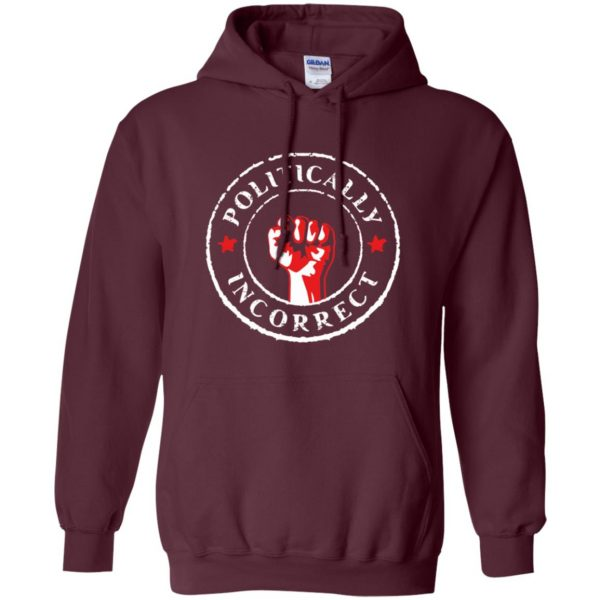 politically correct hoodie - maroon