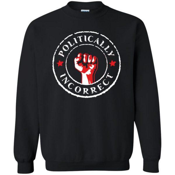 politically correct sweatshirt - black