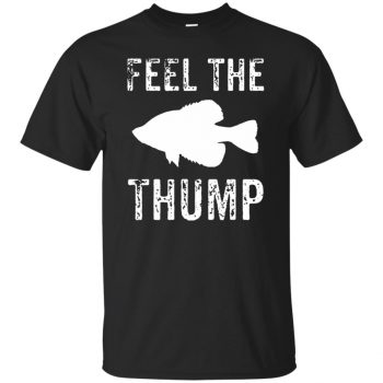 crappie fishing t shirts - black