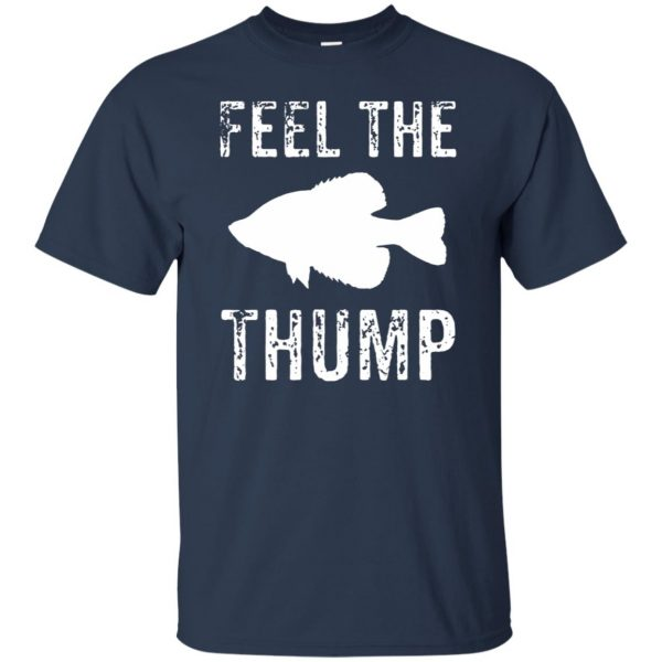 crappie fishing t shirt - navy blue