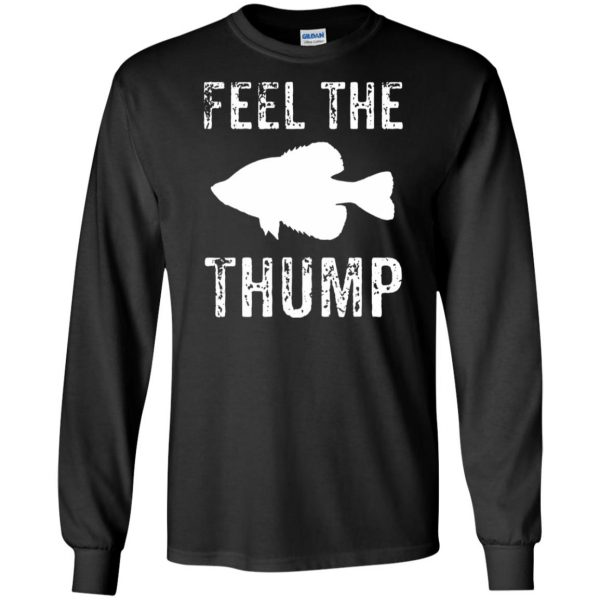 crappie fishing long sleeve - black