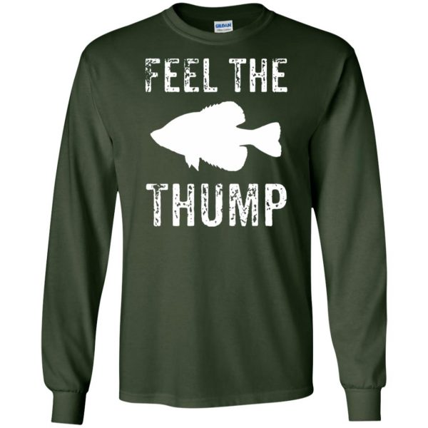 crappie fishing long sleeve - forest green