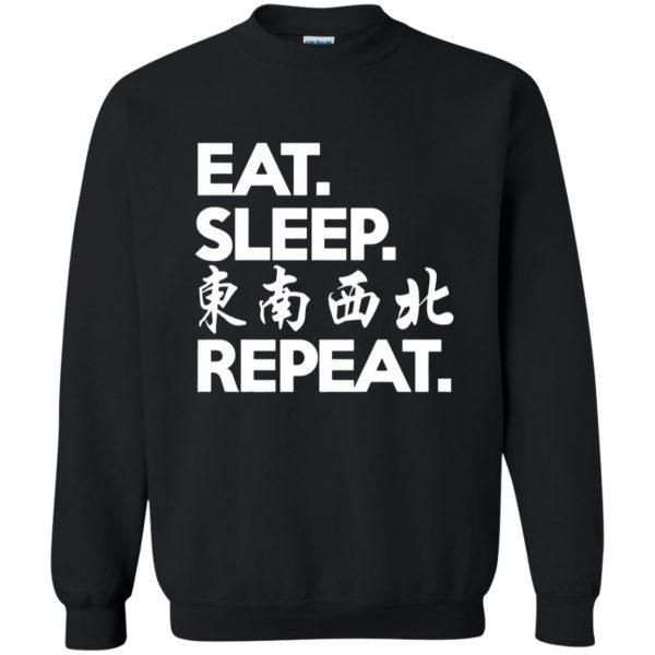 mahjong sweatshirt - black