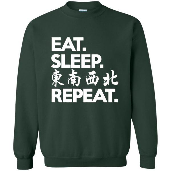 mahjong sweatshirt - forest green