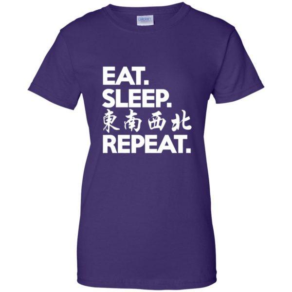 mahjong womens t shirt - lady t shirt - purple