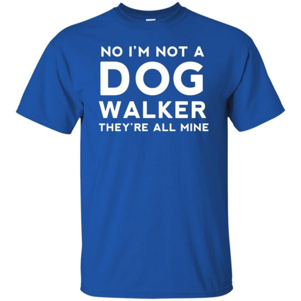 dog walker t shirt - royal blue