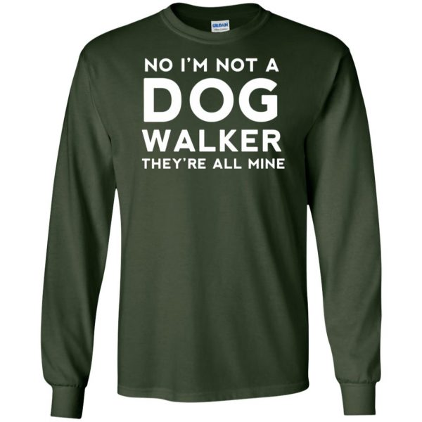 dog walker long sleeve - forest green