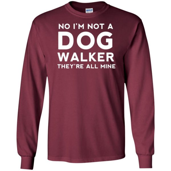dog walker long sleeve - maroon