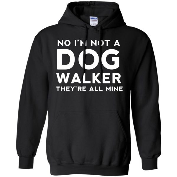 dog walker hoodie - black