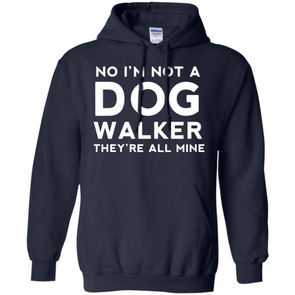 dog walker hoodie - navy blue
