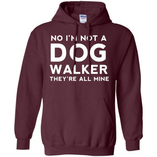 dog walker hoodie - maroon