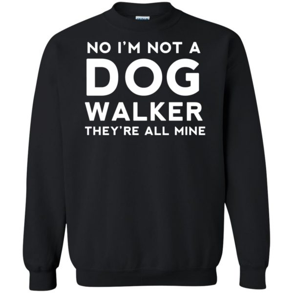dog walker sweatshirt - black