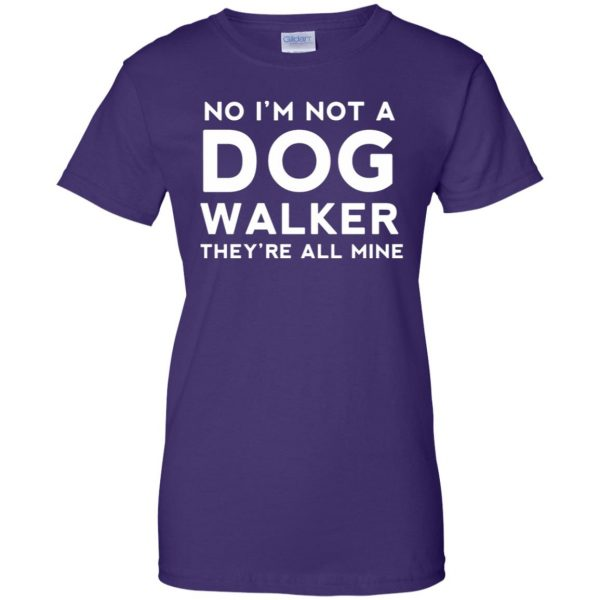 dog walker womens t shirt - lady t shirt - purple